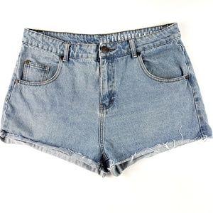 Cotton On Flashback High Rise Light Jean Shorts 12